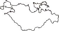 山口県長門市(ながとし)の白地図無料ダウンロード