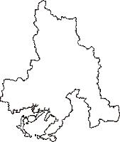 山口県周南市(しゅうなんし)の白地図無料ダウンロード