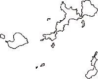 山口県熊毛郡上関町(かみのせきちょう)の白地図無料ダウンロード