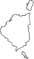 山口県熊毛郡田布施町(たぶせちょう)の白地図無料ダウンロード