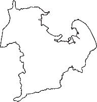 徳島県小松島市(こまつしまし)の白地図無料ダウンロード