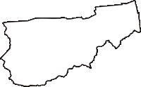 徳島県吉野川市(よしのがわし)の白地図無料ダウンロード