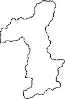 徳島県美馬市(みまし)の白地図無料ダウンロード