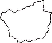 徳島県勝浦郡上勝町(かみかつちょう)の白地図無料ダウンロード