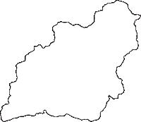徳島県名東郡佐那河内村(さなごうちそん)の白地図無料ダウンロード