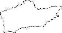 徳島県那賀郡那賀町(なかちょう)の白地図無料ダウンロード