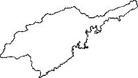 徳島県海部郡美波町(みなみちょう)の白地図無料ダウンロード