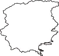 徳島県海部郡海陽町(かいようちょう)の白地図無料ダウンロード