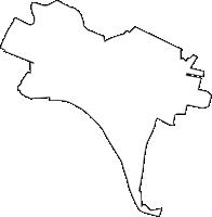徳島県板野郡松茂町(まつしげちょう)の白地図無料ダウンロード