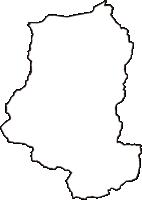 徳島県美馬郡つるぎ町(つるぎちょう)の白地図無料ダウンロード
