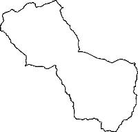徳島県三好郡東みよし町(ひがしみよしちょう)の白地図無料ダウンロード
