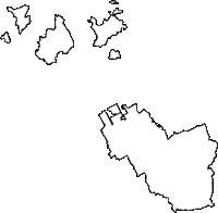 香川県丸亀市(まるがめし)の白地図無料ダウンロード