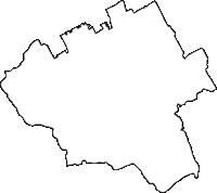 香川県善通寺市(ぜんつうじし)の白地図無料ダウンロード