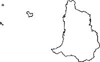 香川県観音寺市(かんおんじし)の白地図無料ダウンロード