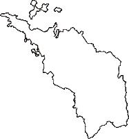 香川県三豊市(みとよし)の白地図無料ダウンロード