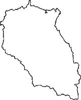 香川県綾歌郡綾川町(あやがわちょう)の白地図無料ダウンロード