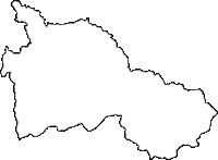香川県仲多度郡まんのう町(まんのうちょう)の白地図無料ダウンロード
