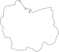 愛媛県西条市(さいじょうし)の白地図無料ダウンロード