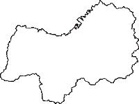 愛媛県四国中央市(しこくちゅうおうし)の白地図無料ダウンロード