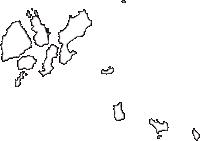 愛媛県越智郡上島町(かみじまちょう)の白地図無料ダウンロード