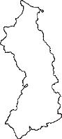 愛媛県伊予郡砥部町(とべちょう)の白地図無料ダウンロード