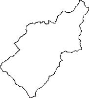 愛媛県北宇和郡松野町(まつのちょう)の白地図無料ダウンロード