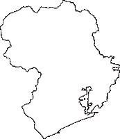 高知県高知市(こうちし)の白地図無料ダウンロード