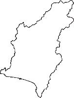 高知県安芸市(あきし)の白地図無料ダウンロード