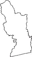高知県南国市(なんこくし)の白地図無料ダウンロード