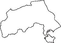 高知県土佐市(とさし)の白地図無料ダウンロード
