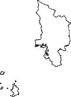 高知県宿毛市(すくもし)の白地図無料ダウンロード