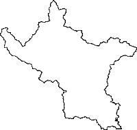 高知県四万十市(しまんとし)の白地図無料ダウンロード
