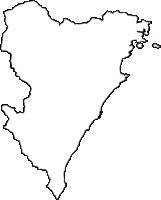 高知県安芸郡東洋町(とうようちょう)の白地図無料ダウンロード