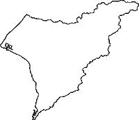 高知県安芸郡奈半利町(なはりちょう)の白地図無料ダウンロード