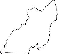 高知県安芸郡芸西村(げいせいむら)の白地図無料ダウンロード