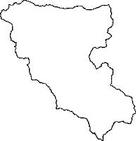 高知県高岡郡檮原町(ゆすはらちょう)の白地図無料ダウンロード