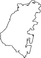 福岡県門司区(もじく)の白地図無料ダウンロード