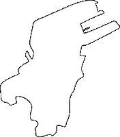 福岡県戸畑区(とばたく)の白地図無料ダウンロード