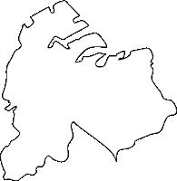 福岡県小倉北区(こくらきたく)の白地図無料ダウンロード