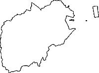 福岡県小倉南区(こくらみなみく)の白地図無料ダウンロード