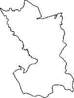 福岡県八幡西区(やはたにしく)の白地図無料ダウンロード