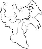 福岡県福岡市(ふくおかし)の白地図無料ダウンロード