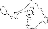 福岡県東区(ひがしく)の白地図無料ダウンロード