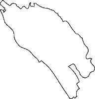 福岡県博多区(はかたく)の白地図無料ダウンロード