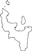 福岡県西区(にしく)の白地図無料ダウンロード