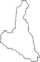 福岡県早良区(さわらく)の白地図無料ダウンロード