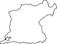 福岡県大牟田市(おおむたし)の白地図無料ダウンロード