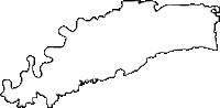福岡県久留米市(くるめし)の白地図無料ダウンロード