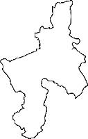 福岡県田川市(たがわし)の白地図無料ダウンロード