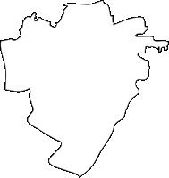 福岡県柳川市(やながわし)の白地図無料ダウンロード